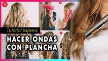CÓMO hacer ONDAS en tu cabello con tu PLANCHA!