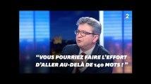 Jean-Luc Mélenchon accuse Anne-Sophie Lapix de tronquer ses propos... avant de faire de même