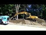 Best Skill Excavator Operation On Roadside