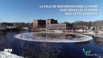 Cet étonnant (et géant) disque de glace s'est formé dans une rivière des États-Unis