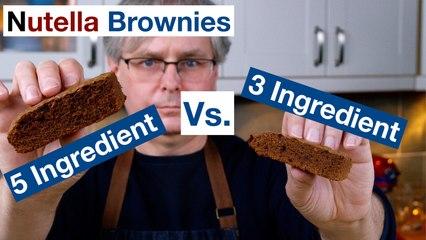 3 Ingredient Vs. 5 Ingredient Nutella Brownies