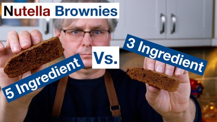 3 Ingredient Vs. 5 Ingredient Nutella Brownies