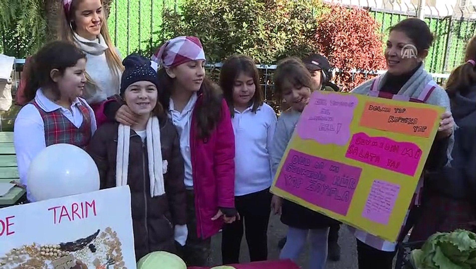Öğrenciler pazar kurdu, kese kağıdıyla satış yaptı - İZMİR