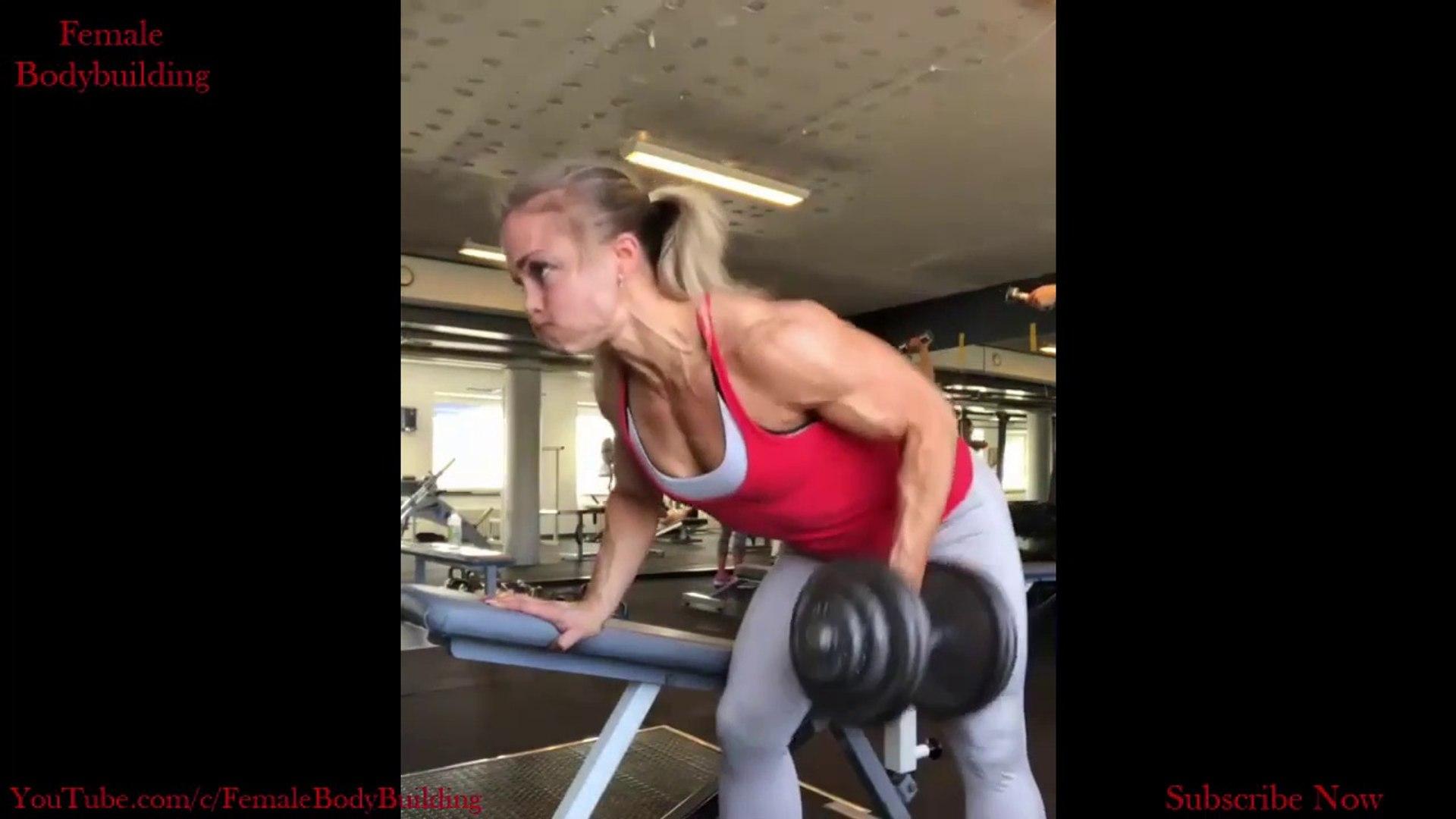 SWEDISH TERMINATOR - Angelica Enberg - Big Biceps Workout