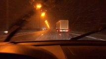 Il neige ce jeudi sur la E42 entre Namur et Liège