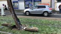 Accident sur la voie du tram dans la nuit de jeudi