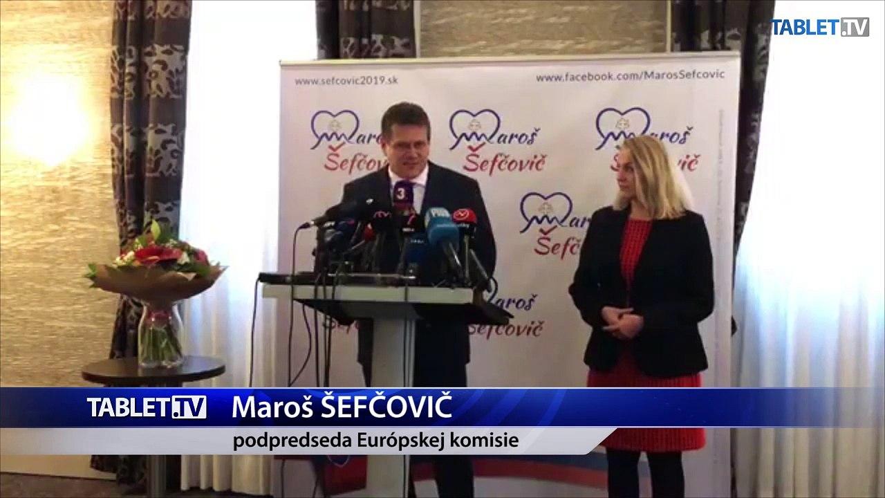 ZÁZNAM: M. Šefčovič kandiduje za prezidenta SR, chce byť nadstranícky