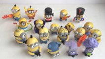 10 McDonalds Happy Meal Minions Toys Complete Set 2015 Bob Kevin Stuart Dave  Unboxing Demo Review