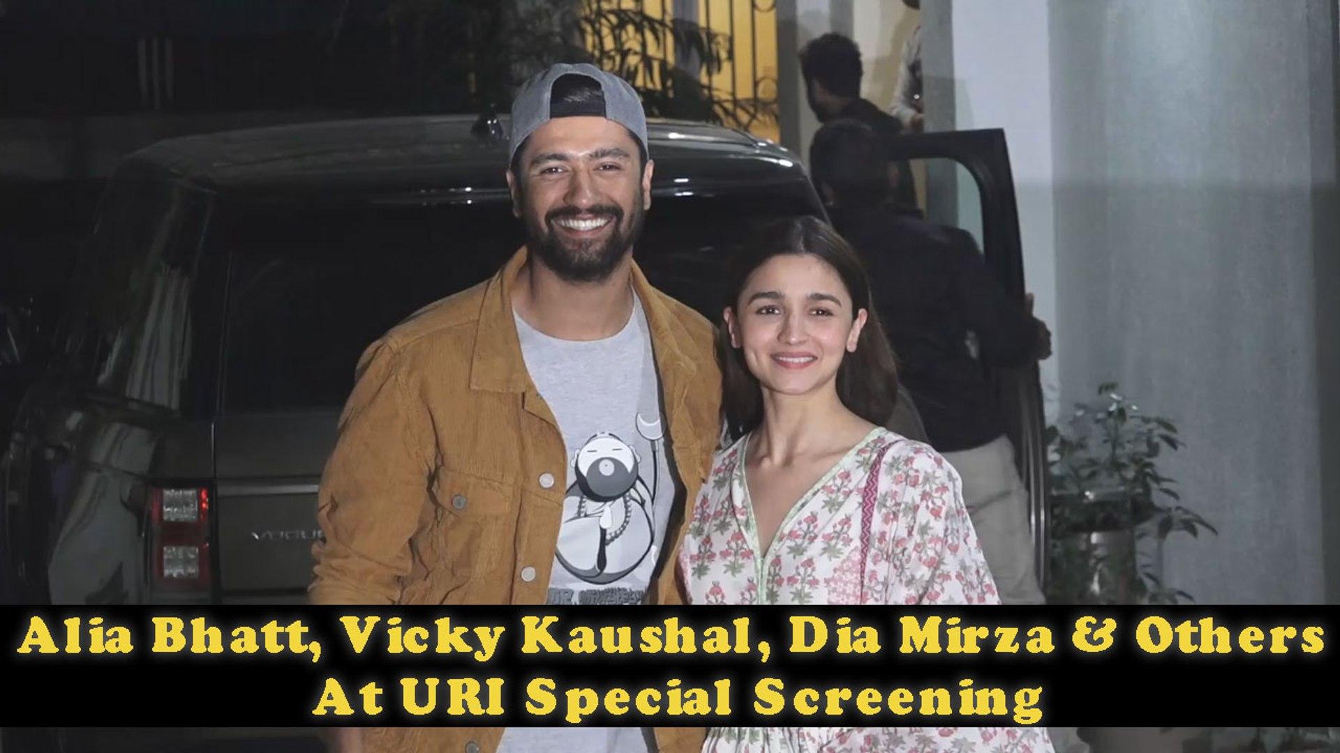 Alia Bhatt, Vicky Kaushal, Dia Mirza & Others At Uri Special Screening   Filmibeat