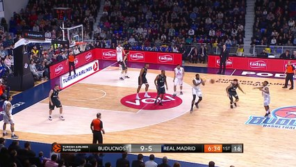 EuroLeague 2018-19 Highlights Regular Season Round 19 video: Buducnost 73-60 Madrid