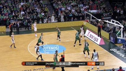 EuroLeague 2018-19 Highlights Regular Season Round 19 video: Zalgiris 82-69 Panathinaikos