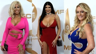 2019 XBIZ Awards Red Carpet Fashion Stormy Daniels Romi Rain