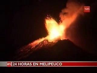 Erupcion del volcan Llaima en Chile