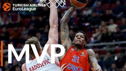 Round 19 MVP: Will Clyburn, CSKA Moscow
