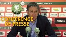 Conférence de presse RC Lens - AS Nancy Lorraine (2-1) : Philippe  MONTANIER (RCL) - Alain PERRIN (ASNL) - 2018/2019