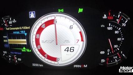 Cadillac CTS-V : 0-250 km/h