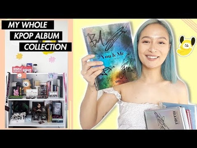 MY WHOLE KPOP ALBUM COLLECTION (100+ ALBUMS?!) - video