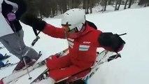 Martine la monitrice de ski se fait renverser par un skieur anglais et devient folle