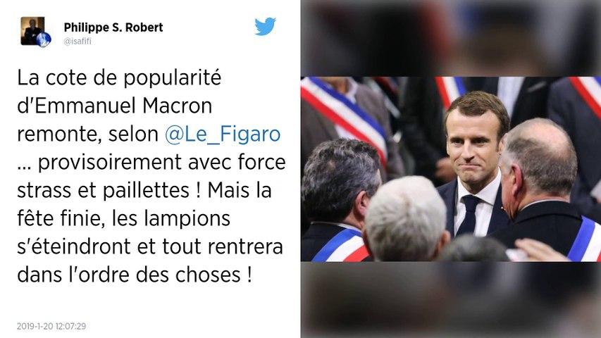 La cote de popularité d'Emmanuel Macron remonte de quatre points