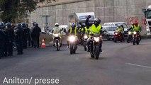 Les motards gilets jaunes  au péage du Pontet