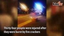 34 injured by fire crackers in Batu Caves