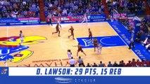 Dedric Lawson Highlights: Iowa State-Kansas 2019