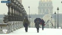 Tour Eiffel, Arc de Triomphe, Château de Versailles... La neige a recouvert Paris et sa région