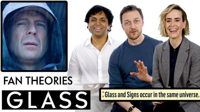 Glass Fan Theories With James McAvoy, M. Night Shyamalan & Sarah Paulson
