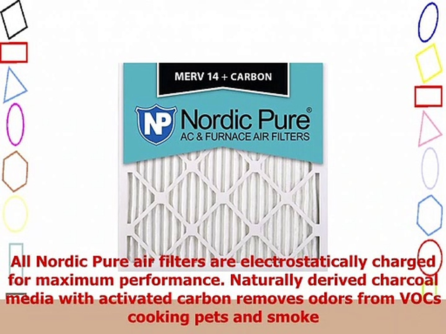 3 Pack 3 Piece Nordic Pure 12x12x1 MERV 8 Pleated Plus Carbon AC Furnace Air Filters