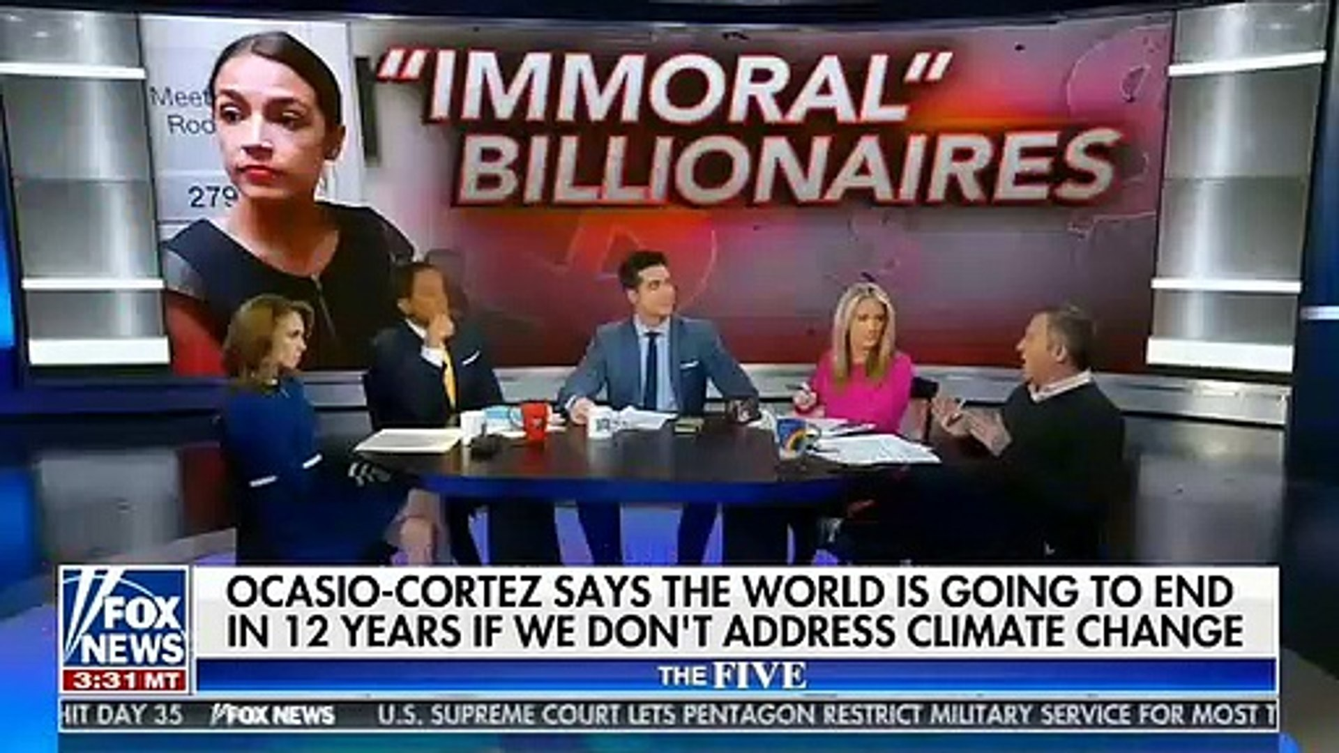 Fox News Co-Host Says Alexandria Ocasio-Cortez And President Trump Are Mirror Images Of Each Other