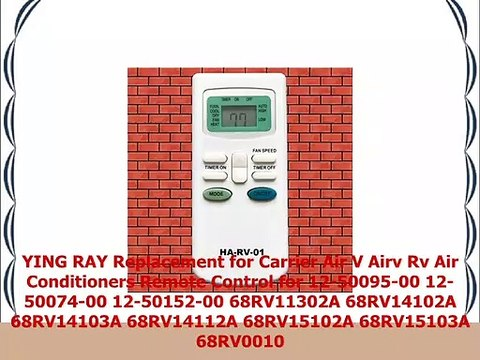YING RAY Replacement for Carrier Air V Airv Rv Air Conditioners Remote  Control for