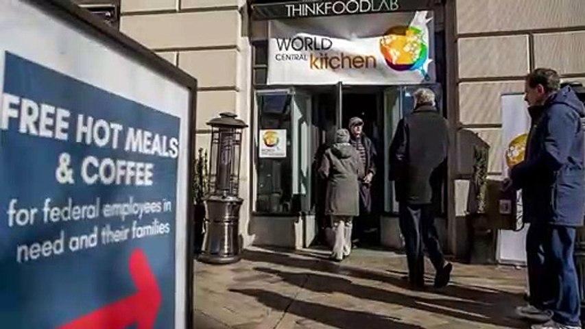 Köar för att få mat - nedstängningen i USA fortsätter