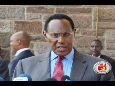Saitoti meets security Chiefs on Election security
