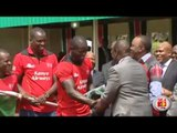 National flag handover to the Kenya Rugby Sevens National team