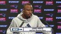 James White Patriots vs. Rams Super Bowl LIII 01/23 Press Conference
