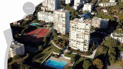 ANTIBES - Appartement 3 pièces à vendre en dernier étage, vue panoramique mer