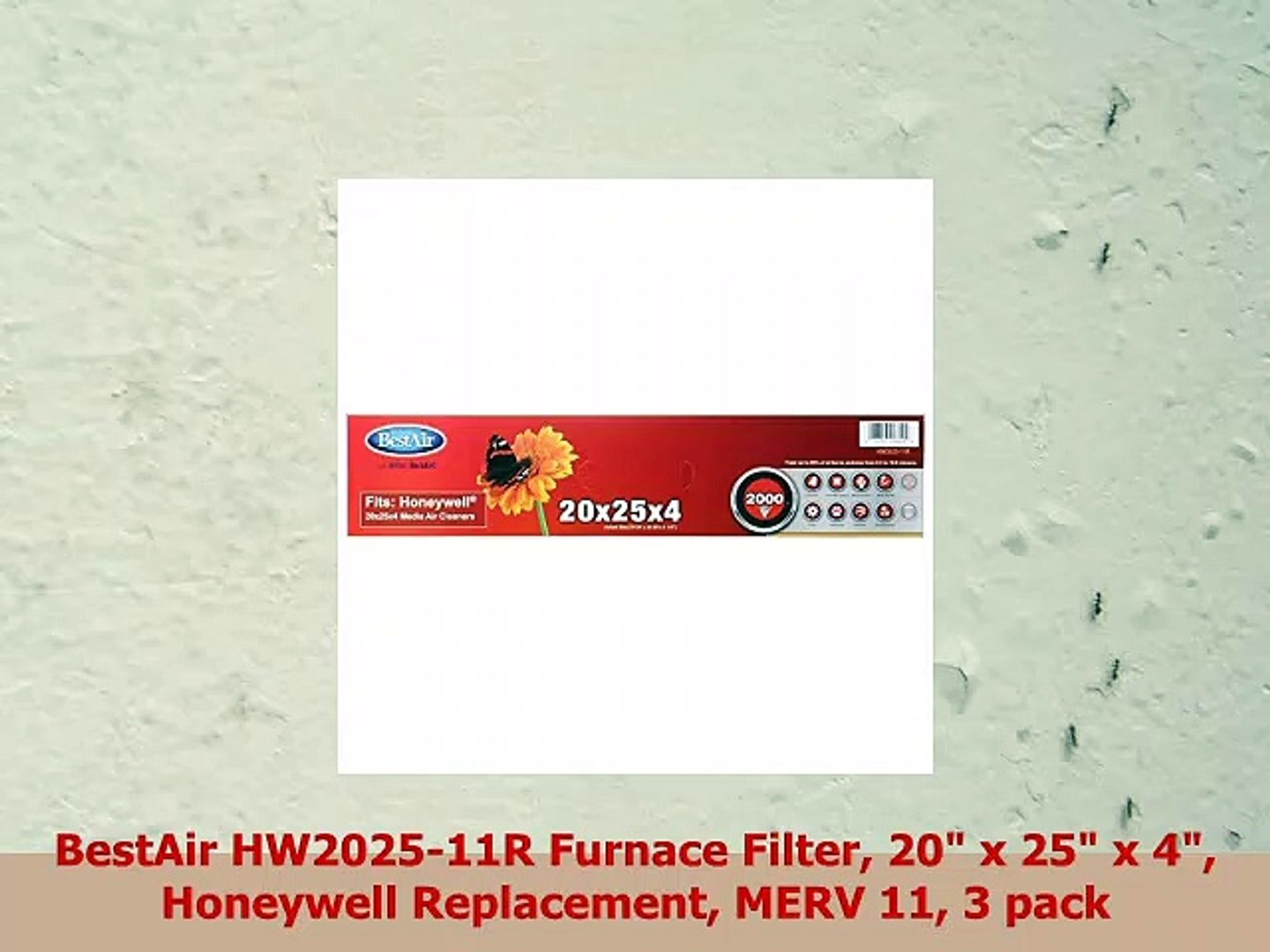 FilterBuy 23.5x23.5x1 MERV 11 Pleated AC Furnace Air Filter, 23.5x23.5x1 Gold Pack of 2 Filters