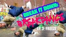 Breakdance : le freeze