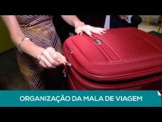 Lente: Organização da mala de viagem (1 de 2)
