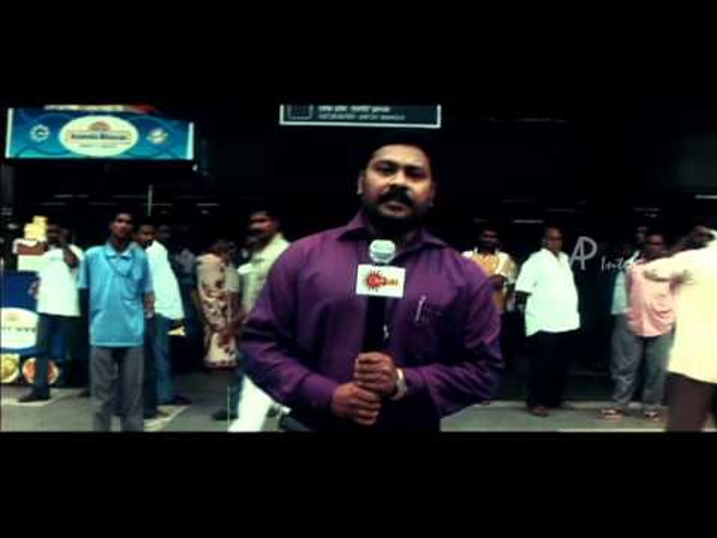 Thodakkam Tamil Movie | Scenes | News reporter talks about youth returning from the US | Monika