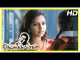 Deiva Thirumagal Tamil movie | scenes | Amala Paul intro and she becomes friends with Sara | Vikram