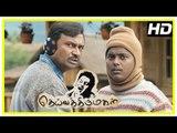 Deiva Thirumagal Tamil movie | scenes | M S Bhaskar misunderstands Vikram and Surekha | Pandi