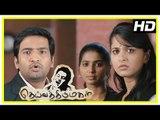 Deiva Thirumagal Tamil movie   scenes   M S Bhaskar supports Vikram in court   Anushka   Nassar