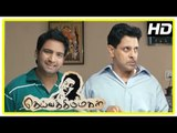 Deiva Thirumagal Tamil movie | scenes | Anushka gives training to Vikram | Santhanam
