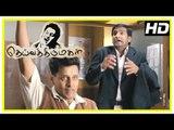 Deiva Thirumagal Tamil movie | scenes | Anushka tries to escape from Vikram | Santhanam