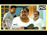Saattai Tamil movie scenes | Samuthirakani beats up Thambi Ramaiah | Mahima to continue studies