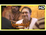 Demonte Colony movie scenes | M S Baskar predicts future | Arulnithi finds M S Baskar deceased