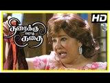 Thiraikku Varadha Kadhai Scene   Iniya & Archana fight snatchers   Kovai Sarala tells her love story