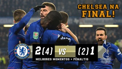 Chelsea 2 (4 x 2) 1 Tottenham - Melhores Momentos + Pênaltis (HD) Copa da Liga Inglesa 24/01/2019