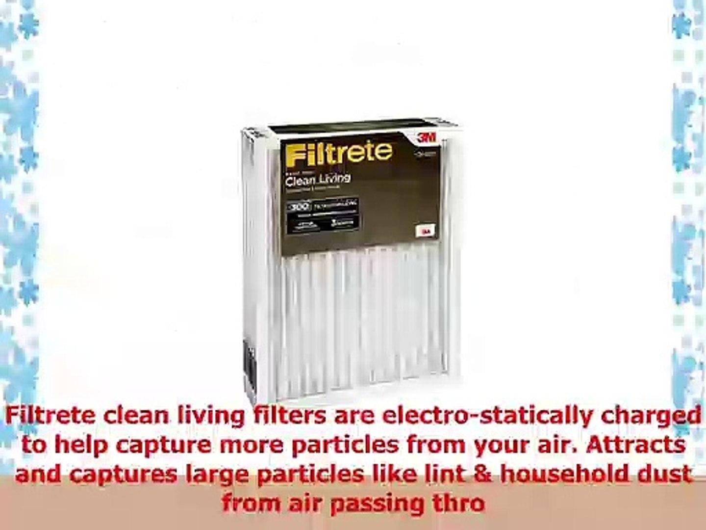 Clean Living Basic Dust, MPR 300 Filtrete 16x20x1 AC Furnace Air Filter